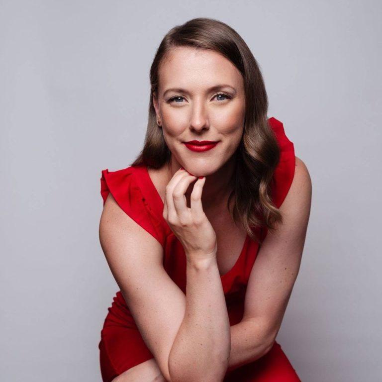 Kathleen Marie in Red Dress